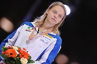 "SHORT TRACK: MOSCOW: Speed Skating Centre ""Krylatskoe"", 15-03-2015, ISU World Short Track Speed Skating Championships 2015, Final Podium Ladies, Arianna FONTANA (ITA), ©photo Martin de Jong"
