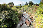 Mangawhero Stream and Mt Taranaki, New Zealand
