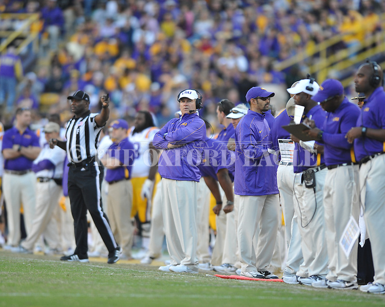 Ole Miss vs. LSU Coach Les Miles at Tiger Stadium in Baton Rouge, La. on Saturday, November 17, 2012.....