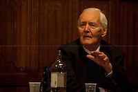 Tony Benn. British politician - 2012<br /> <br /> London, 20/03/2012. &quot;Defend The Right To Protest&quot; organised a meeting at the House of Commons called &quot;Is Protesting Becoming A Crime&quot;. The discussion analysed the British situation related to the increasing of the prison population in the last few years, especially more cases involving young people; the arrests made by police officers in connection with the student protests; the police brutality, like in Alfie Meadows case who is also charged for &quot;violent disorder&quot;. Speakers included: Tony Benn, John McDonnell MP, Susan Matthews, Alfie Meadows, Matt Foot, Jelena Timotijevic, Jeremy Corbin MP, Marcia Rigg, Morgan Wild, Maggie Mitchell, John Hemming MP.