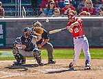 27 April 2014: Washington Nationals outfielder Kevin Frandsen at bat against the San Diego Padres at Nationals Park in Washington, DC. The Padres defeated the Nationals 4-2 to to split their 4-game series. Mandatory Credit: Ed Wolfstein Photo *** RAW (NEF) Image File Available ***