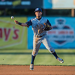 29 July 2016: Brooklyn Cyclones infielder Michael Paez in action against the Vermont Lake Monsters at Centennial Field in Burlington, Vermont. The Lake Monsters fell to the Cyclones 8-5 in NY Penn League action. Mandatory Credit: Ed Wolfstein Photo *** RAW (NEF) Image File Available ***