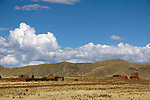 South America, Peru. Landscape of the Andean mountains, as seen via the Andean Explorer train journey.