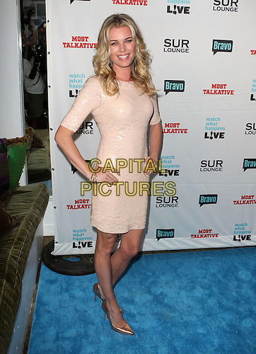 "Rebecca Romijn .Bravo's Andy Cohen's Book Release Party For ""Most Talkative: Stories From The Front Lines Of Pop Held at SUR Lounge, West Hollywood, California, USA..May 14th, 2012.full length pink peach dress sequins sequined hands on hips.CAP/ADM/KB.©Kevan Brooks/AdMedia/Capital Pictures."