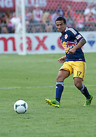 July 20, 2013: New York Red Bulls midfielder Tim Cahill #17 in action during a game between Toronto FC and the New York Red Bulls at BMO Field in Toronto, Ontario Canada.<br /> The game ended in a 0-0 draw.