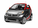 2015 Smart Fortwo Electric Drive Cabriolet electric car. Isolated on white background with clipping path.