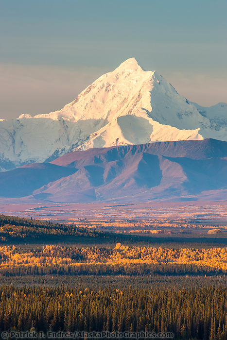 Mount Hayes, 13,832 ft, a prominent peaks in the Alaska range mountains, interior, Alaska.