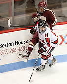 Rachel Llanes (NU - 11), Kaliya Johnson (BC - 6) - The Northeastern University Huskies defeated Boston College Eagles 4-3 to repeat as Beanpot champions on Tuesday, February 12, 2013, at Matthews Arena in Boston, Massachusetts.
