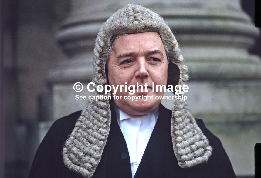 Patrick MacEntee, senior barrister, state counsel, Rep of Ireland, Queen's Counsel, UK, 19850017PME1.<br /> <br /> Copyright Image from Victor Patterson, 54 Dorchester Park, Belfast, UK, BT9 6RJ<br /> <br /> t1: +44 28 9066 1296 (from Rep of Ireland 048 9066 1296)<br /> t2: +44 28 9002 2446 (from Rep of Ireland 048 9002 2446)<br /> m: +44 7802 353836<br /> <br /> e1: victorpatterson@me.com<br /> e2: victorpatterson@gmail.com<br /> <br /> The use of my copyright images is subject to my Terms &amp; Conditions.<br /> <br /> It is IMPORTANT that you familiarise yourself with them. They are available on my website at www.victorpatterson.com.<br /> <br /> None of my copyright images may be used on a website unless they are visibly watermarked, i.e. &copy; Victor Patterson within the body of the visible image. Metadata denoting my copyright must NOT be deleted. <br /> <br /> Web use is extra at currently recommended NUJ rates.