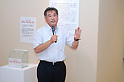 July 1st, 2011, Masaru Kumagai, curator of the shellfish and sea museum in Iwate, explaining the damages due to the  earthquake and tsunami disaster. The Dinosaur Expo 2011 is held at the National Science Museum in Ueno, Japan. The main attractions of the event are showpieces of Tyrannosaurus rex and triceratops fossils, which are facing each other as if they are fighting. The exhibition will be held from July 2 to October 2, 2011.