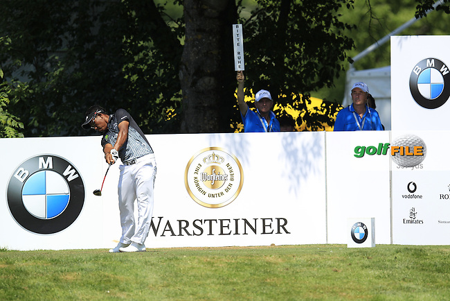 Thongchai Jaidee (THA) tees off the 4th tee during Thursday's Round 1 of the 2013 BMW International Open held on the Eichenried Golf Club, Munich, Germany. 20th June 2013<br /> (Picture: Eoin Clarke www.golffile.ie)