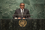 Ethiopia<br /> H.E. Mr. Hailemariam Dessalegn<br /> Prime Minister<br /> <br /> General Assembly Seventy-first session 10th plenary meeting<br /> General Debate