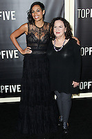 NEW YORK CITY, NY, USA - DECEMBER 03: Rosario Dawson, Olga Merediz arrive at the New York Premiere Of 'Top Five' held at the Ziegfeld Theatre on December 3, 2014 in New York City, New York, United States. (Photo by Celebrity Monitor)