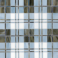 Hamish, a jewel glass mosaic field shown in Lavastone, Pearl, Moonstone and Marcasite, is part of the Plaids and Ginghams Collection by New Ravenna Mosaics.