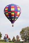 Hot air balloons dot the skies at the 2008 Shenandoah Valley Hot Air Balloon Festival at Historic Long Branch in Millwood, Virginia.