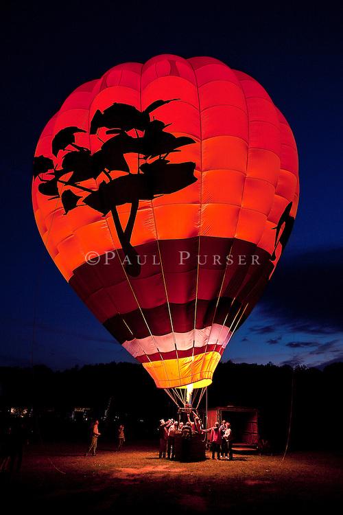 Hot Air Balloons At Night Photography