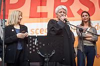 Barbara Spinelli during the presentation of Italy's Tsipras List in Piazza Affari (Milan Stock Exchange) , on April 23, 2014. Photo: Adamo Di Loreto/BuenaVista*Photo