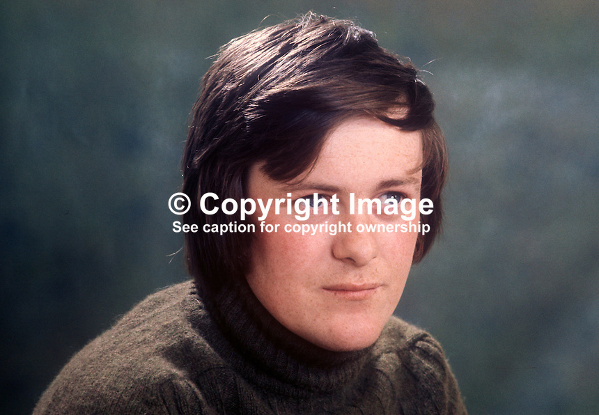 John Slye, news cameraman, RTE, in Belfast, N Ireland. 1973040312<br /> <br /> Copyright Image from Victor Patterson, 54 Dorchester Park, Belfast, UK, BT9 6RJ<br /> <br /> Tel: +44 28 9066 1296<br /> Mob: +44 7802 353836<br /> Voicemail +44 20 8816 7153<br /> Email: victorpatterson@me.com<br /> Email: victorpatterson@gmail.com<br /> <br /> IMPORTANT: My Terms and Conditions of Business are at www.victorpatterson.com