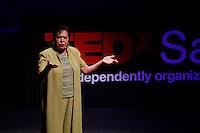 Poet Angela Cano performs during the TEDxSan Antonio 2010 event, Saturday, Oct. 16, 2010, at Trinity University in San Antonio. (Darren Abate/pressphotointl.com)