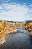 """Downtown Truckee River"" - Photograph of the Truckee River in Downtown Truckee, CA in the fall."