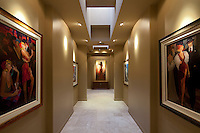 Hallway in luxury residence is used as art gallery