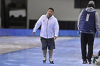 SPEED SKATING: SALT LAKE CITY: 18-11-2015, Utah Olympic Oval, ISU World Cup, training, Ryan Shimabukuro, ©foto Martin de Jong