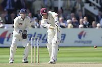Photo Peter Spurrier.31/08/2002.Cheltenham & Gloucester Trophy Final - Lords.Somerset C.C vs YorkshireC.C..Somerset batting - Jamie Cox (Marron Helmet)