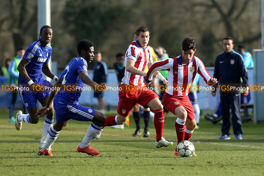 Tete Morente of Athletico Madrid races upfield - Chelsea Under-19 vs Athletico Madrid Under-19 - UEFA Under-19 Champions League Quarter-Final Football at Cobham Training Ground, Surrey - 10/03/15 - MANDATORY CREDIT: Paul Dennis/TGSPHOTO - Self billing applies where appropriate - contact@tgsphoto.co.uk - NO UNPAID USE