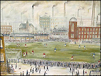 BNPS.co.uk (01202 558833)<br /> Pic: BoltonAuctionRooms/BNPS<br /> <br /> &quot;Before kick off&quot; signed and dated L.S. Lowry 1923 but actually painted by Bolton artist Shaun Greenhalgh in 2015.<br /> <br /> Imitations of L.S Lowry paintings by one of the most prolific art forgers in British history are set to go under the hammer. <br /> <br /> Shaun Greenhalgh served a four year prison sentence for swindling unwitting museums, dealers and collectors out of &pound;1,000,000 over 17 years. <br /> <br /> Since his release from prison in 2010 Greenhalgh has continued painting and now three of his L.S Lowry 'imitations' are set to sell 'within the confines of the law'. <br /> <br /> The three paintings, each produced in 2015, will be sold by Bolton Auction Rooms in Lancashire, on February 20.