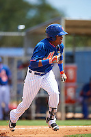 New York Mets Milton Ramos (7) during an Instructional League game against the Miami Marlins on September 29, 2016 at the Port St. Lucie Training Complex in Port St. Lucie, Florida.  (Mike Janes/Four Seam Images)