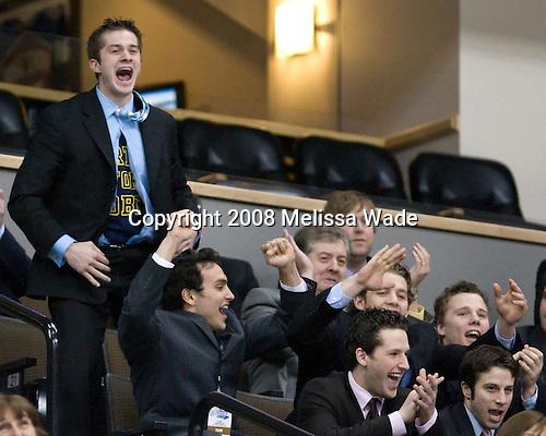 Chad Kolarik (Michigan 24), Louie Caporusso (Michigan 29), Matt Rust (Michigan 19), Shawn Hunwick (Michigan 31), Bryan Hogan (Michigan 35), Anthony Ciraulo (Michigan 15) - The Hobey Baker was awarded on Friday, April 11, 2008 at the Pepsi Center in Denver, Colorado during the 2008 Frozen Four.