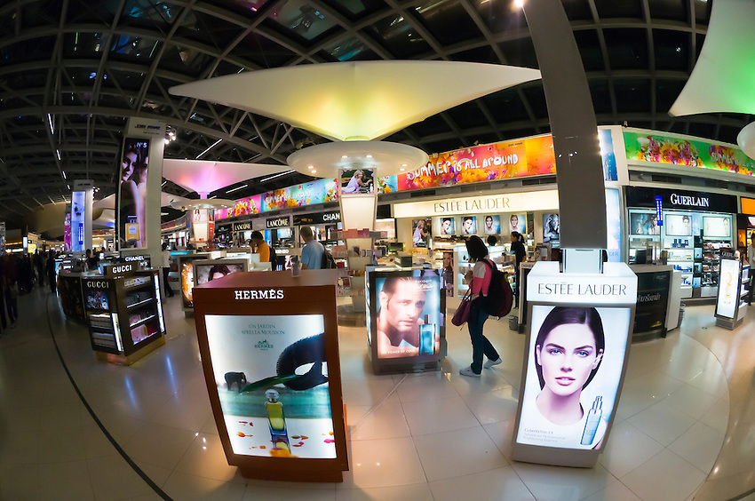 Cosmetics, Duty free shopping, Suvarnabhumi International Airport, Bangkok, Thailand