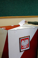 Polling stations in the town of Oswiecim, Poland during the first round of presidential elections on Sunday, June 20, 2010.