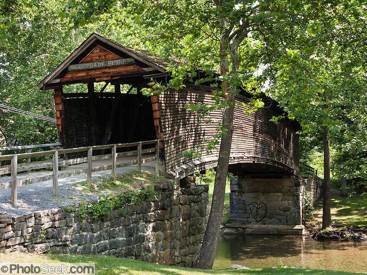 Metal Covered Bridges : Humpback covered bridge built oldest left in