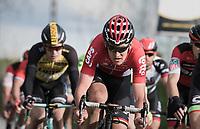 Tiesj Benoot (BEL/Lotto-Soudal)<br /> <br /> 72nd Dwars Door Vlaanderen (1.UWT)<br /> 1day race: Roeselare &rsaquo; Waregem BEL (203.4km)