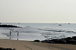 Fishing on the beach in Ocean Grove,  New Jersey. Photo By Bill Denver/EQUI-PHOTO