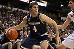 24 February 2016: Notre Dame's Matt Ryan. The Wake Forest University Demon Deacons hosted the University of Notre Dame Fighting Irish at Lawrence Joel Veterans Memorial Coliseum in Winston-Salem, North Carolina in a 2015-16 NCAA Division I Men's Basketball game. Notre Dame won the game 69-58.