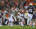 Ole Miss quarterback Randall Mackey (1) pitches at Jordan-Hare Stadium in Auburn, Ala. on Saturday, October 29, 2011. .