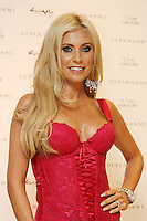 6/7/2010. Claudine Keane wife of footballer Robbie Keane is pictured in Debenhams, Henry Street Dublin to launch Adore Moi by Ultimo. Picture James Horan/Collins Photos