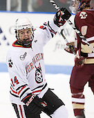 Braden Pimm (Northeastern - 14) - The Northeastern University Huskies defeated the visiting Boston College Eagles 2-1 on Saturday, February 19, 2011, at Matthews Arena in Boston, Massachusetts.