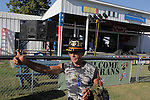 Vietnam Veteran Jerry Hogan, B Troop, 1st Squadron, 9th Cavalry gives a thumbs up. Vietnam Veterans gather in Kokomo, Indiana for the 2009 reunion.