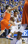 UK guard Tyler Ulis (3) drives through traffic during the UK Men's Basketball vs. Florida Gators game at Rupp Arena. Saturday, February 6, 2016 in Lexington, Ky. UK defeated Florida 80 - 61