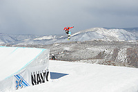 Aspen, Co - 27, JANUARY 2012 - Buttermilk Mountain: Spencer O'Brian competing in Women's Snowboard Slopestyle Final during Winter X Games 16..(Photo by Joe Faraoni / ESPN Images)..- RAW FILE AVAILABLE -