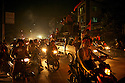 City lights are rarely lit in Myanmar towns. Despite the rising costs of fuel people can't help but joining the street celebrations.