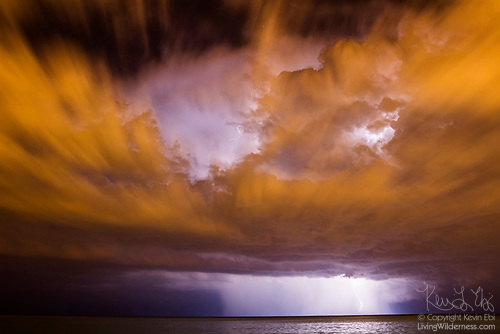 Severe Thunderstorm over Lake Michigan, Chicago, Illinois