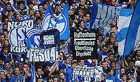 FUSSBALL   1. BUNDESLIGA   SAISON 2011/2012    11. SPIELTAG FC Schalke 04 - 1899 Hoffenheim                            29.10.2011 Schalke Fans praesentieren ein Plakat: HOFFENHEIM, TRADITIONSLOS, UEBERFLUESSIG, UNGELIEBT