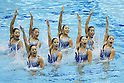 Japan National team (JPN), MAY 4, 2012 - Synchronized Swimming : Japanese Synchronized Swimming team perform during the Japan Synchronised Swimming Championships Open 2012, team technical routine at Tatumi International pool in Tokyo, Japan. (Photo by Yusuke Nakanishi/AFLO SPORT) [1090]