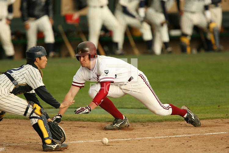13 February 2007: Sean Ratliff during Stanford's 5-1 exhibition win over Rikkio University at Sunken Diamond in Stanford, CA.