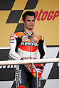 May 2, 2010 - Jerez, Spain  - Spanish Toni Pedrosa celebrates on the podium after the MotoGP race of the Spanish Grand Prix at the Jerez racetrack on May 2, 2010 in Jerez de la Frontera. (Photo Andrew Northcott/Nippon News).