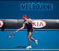 Alize Cornet (FRA)<br /> <br /> Tennis - Australian Open 2015 - Grand Slam -  Melbourne Park - Melbourne - Victoria - Australia  - 24 January 2015. <br /> &copy; AMN IMAGES